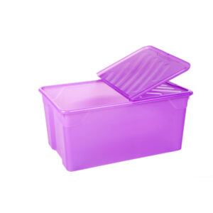 Homeplast Κουτί Αποθήκευσης 92Lt Με Ροδάκια